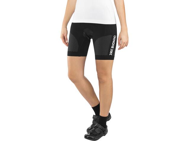 X-Bionic Race Evo Comfort Spodenki rowerowe na szelkach Kobiety, black/anthracite